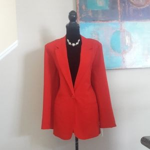 Sag Harbor/ Red/ Single Button Front/ Blazer